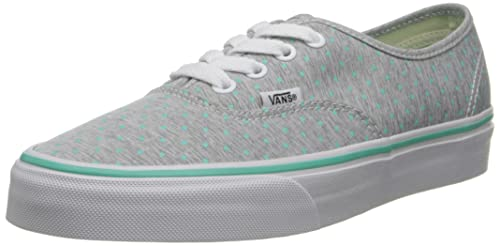 a413f17bbc Image Unavailable. Image not available for. Color  Vans Women s Authentic (Chambray  Dots) Bermuda Skate Shoe ...
