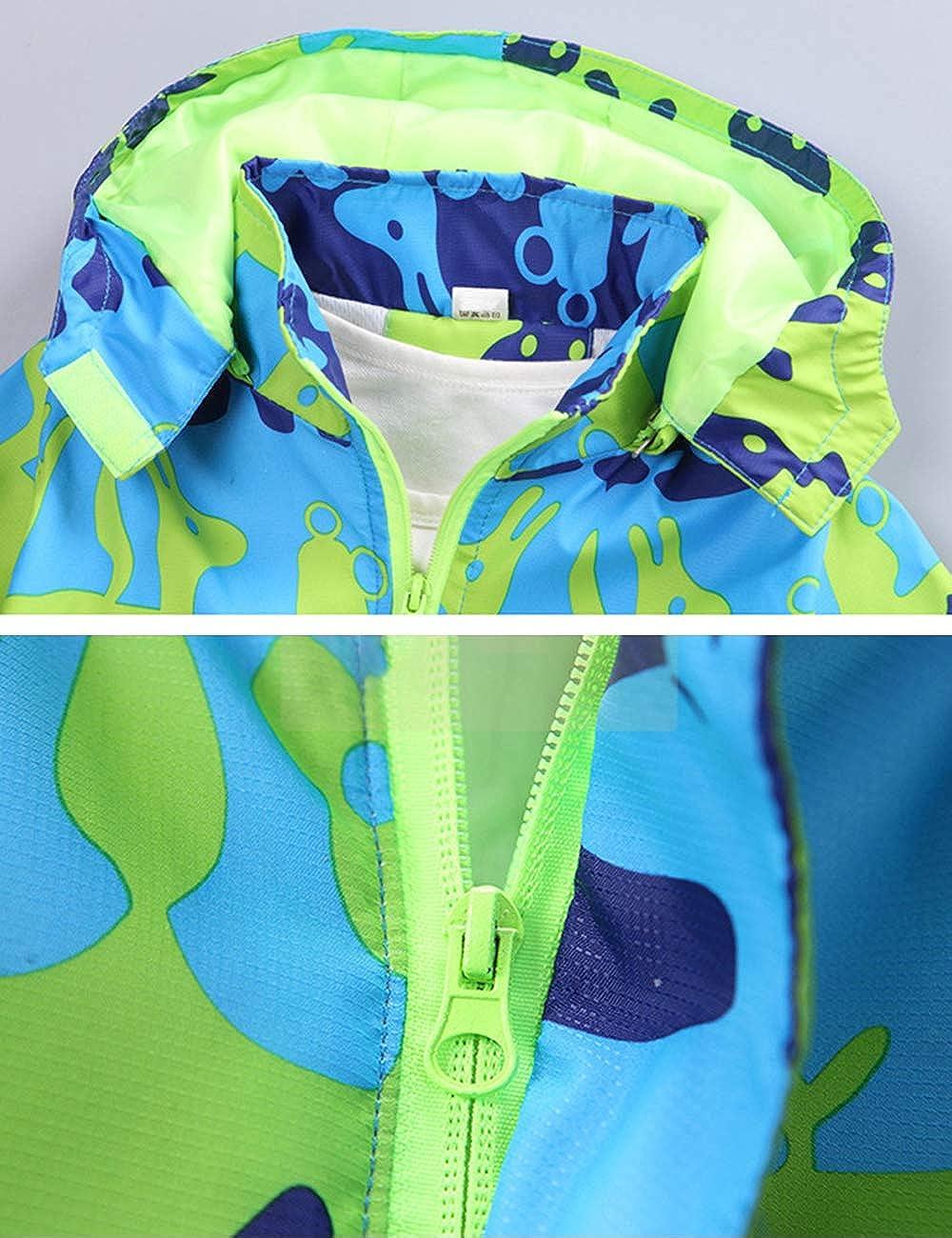 BESBOMIG Windproof Fleece Kids Jackets Boys Winter Camouflage Outerwear Lightweight