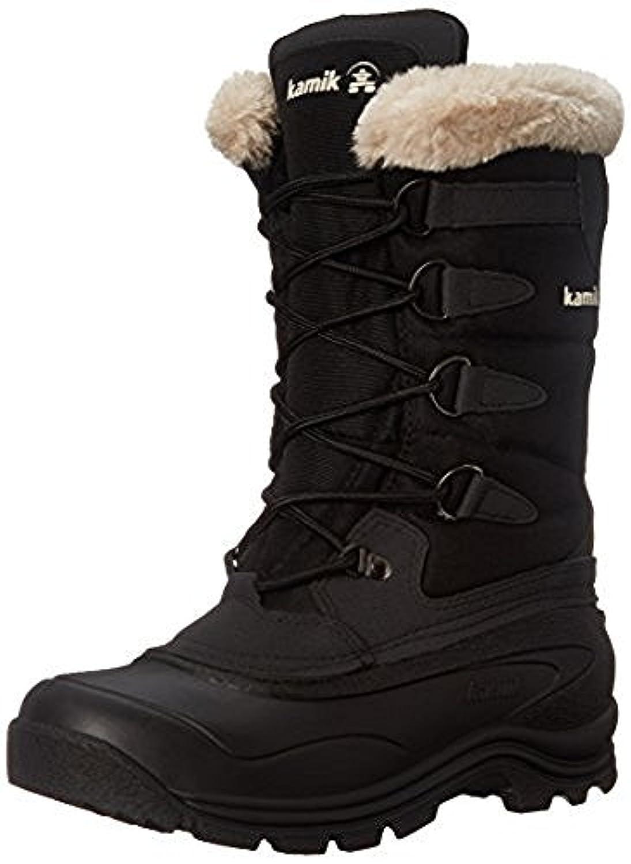 Kamik Women's Shellback Snow Boots & Toe warmers Bundle B01M18X9FR 9 B(M) US|Black
