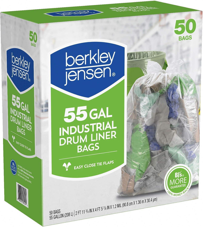 Berkley And Jensen Clear Drumliner, 50 Count