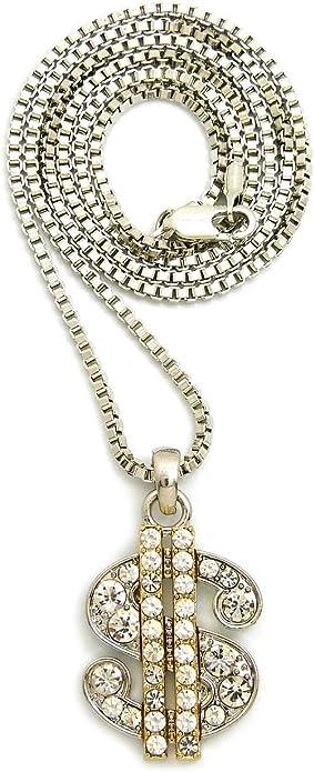 "Iced Egyptian Nefertiti Pendant 3mm 16/"" /& 18/"" 1 Row Tennis Chain Bling Necklace"