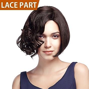 Amazon Com Fashion Idol 10 Short Asymmetrical Bob Wig Human Hair
