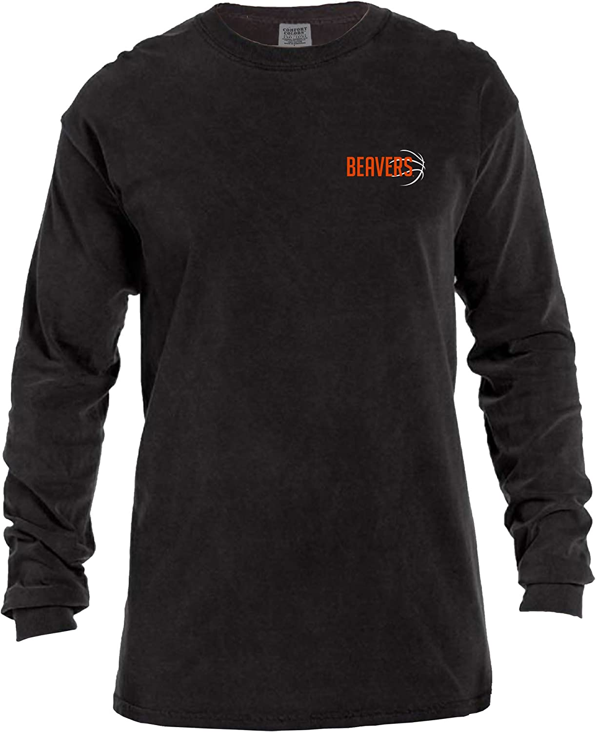 NCAA Basketball Outline Long Sleeve Comfort Color Tee