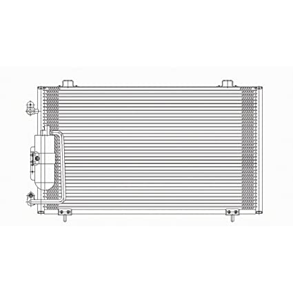 New A//C Condenser for Pontiac Vibe GM3030243 2003 to 2008