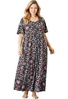 0d3a97972db Only Necessities Women s Plus Size Long Pintucked Sleep Gown at ...