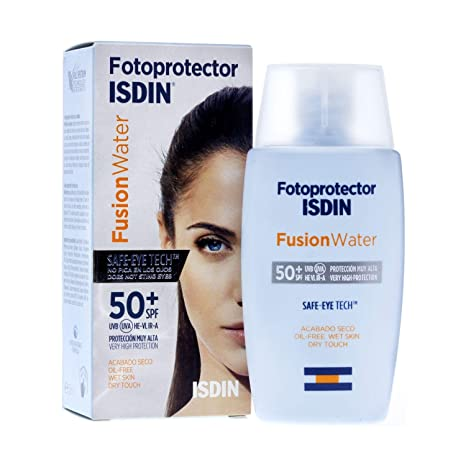 Amazon.com: ISDIN Fusion Water SPF50+ 50ml - Photoprotector - Daily Sun Protection - Face Moisturizer - All Types of Skins: Beauty
