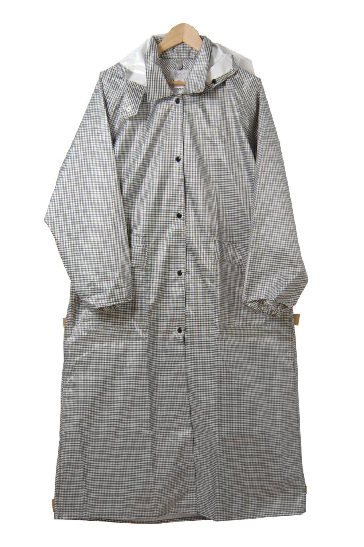キンカメ レビータレインコート 日本製 全12色 全6サイズ ホワイト/ブラック チェック LL(125) 防水 2.5層レイヤー 止水テープ K9000-WHBK-125 B01ET2OX3O LL(125)|ホワイト/ブラック ホワイト/ブラック LL(125)