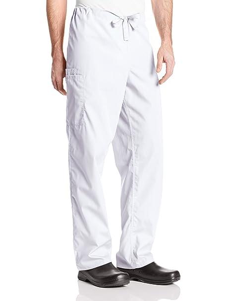 0d571d72523 Amazon.com: Cherokee Big and Tall Originals Unisex Drawstring Cargo Scrubs  Pant, White, Large: Medical Scrubs Pants: Clothing