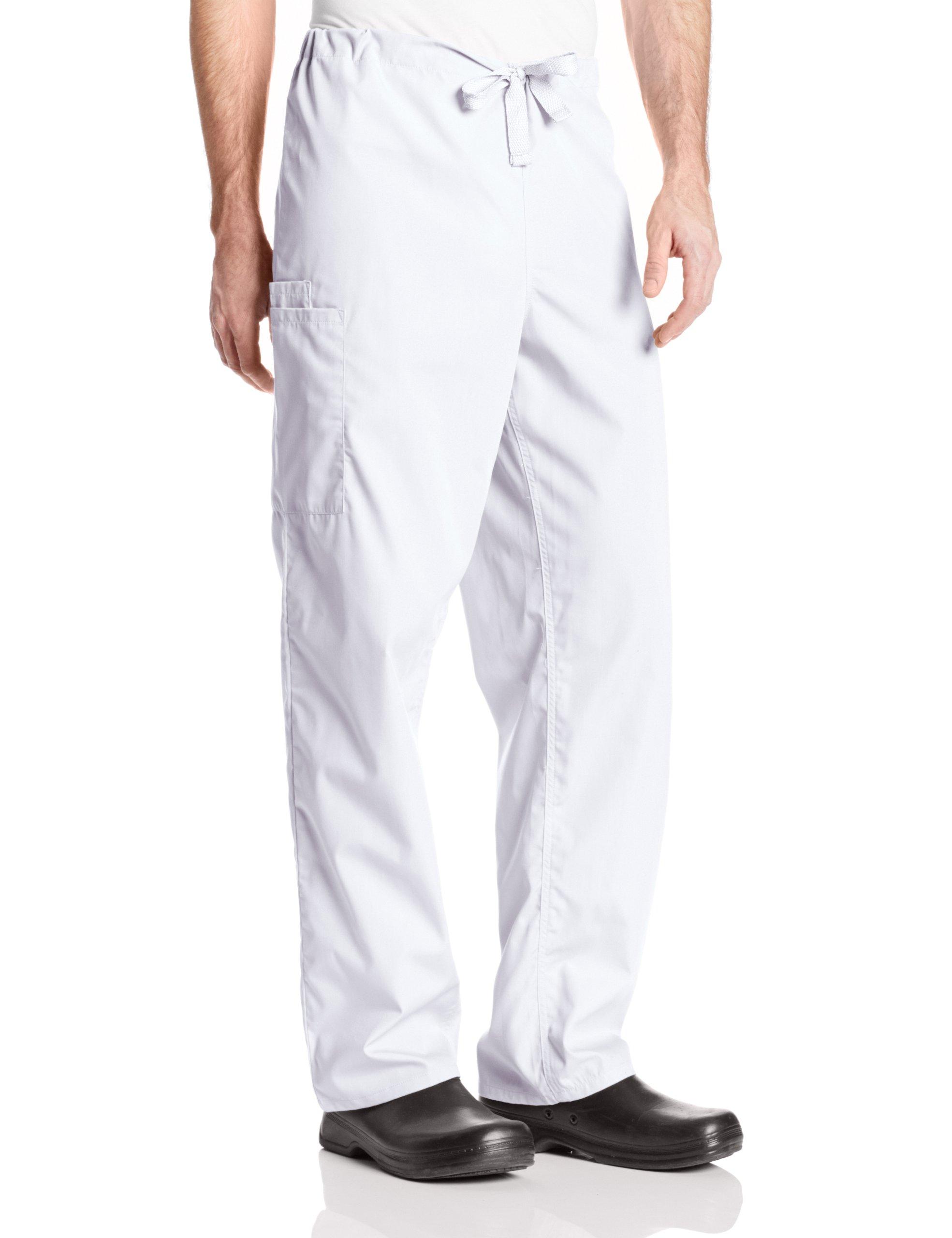 Cherokee Workwear Scrubs Unisex Cargo Pant, White, Medium by Cherokee (Image #1)