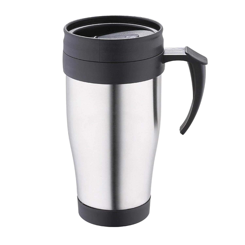 16x16x10 cm Renberg Latte Taza Termo de Viaje Acero Inoxidable Cromado