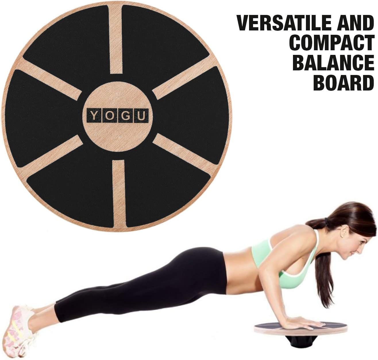 Exercise Balance Helps Increase Strength and Flexibility 14 Inch YAOYAN Balance Board Wobble Board With Labyrinth Under Desk