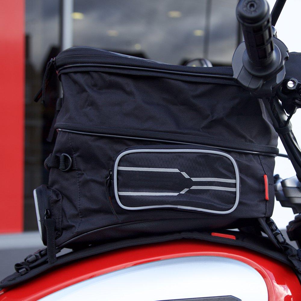 con telo impermeabile e cinghia per il trasporto Borsa da serbatoio per moto Auto Companion