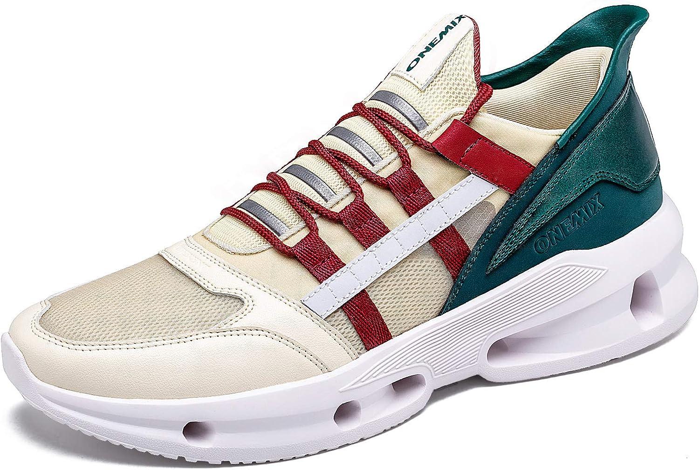 ONEMIX Hombre Zapatillas Running Deporte Respirable Zapatos de ...