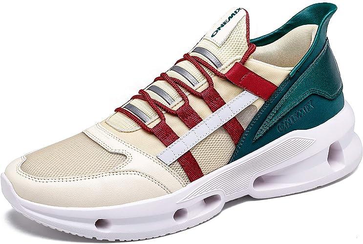 ONEMIX Hombre Zapatillas Running Deporte Respirable Zapatos ...