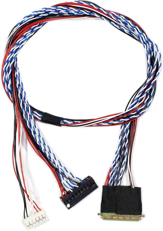 Lvds-Kabel Mit 0,5 Mm Abstand Ipex 40Pin 2Ch 6Bit Für 15,6 Zoll ~ ki