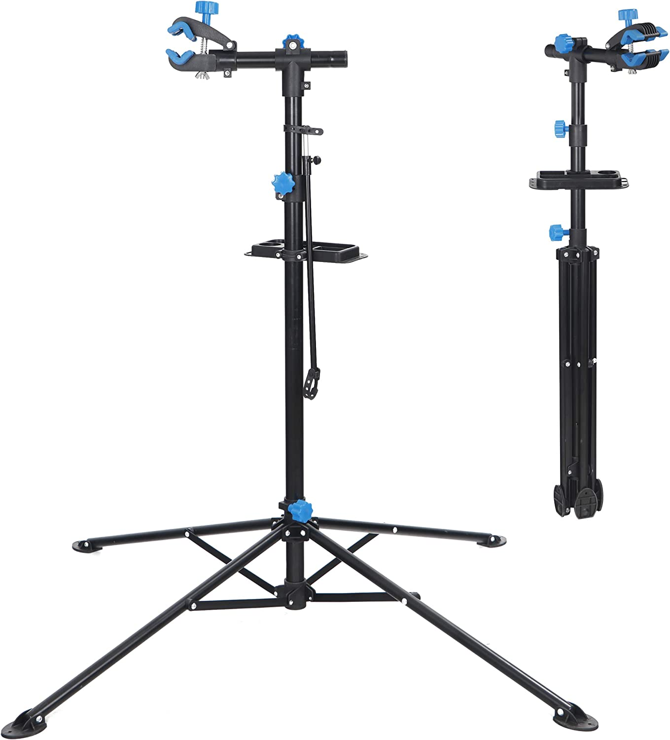 Adjustable Bicycle Maintenance Repair Stand Mechanic Workstand Rack+MagneticTray