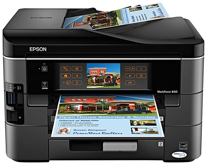 amazon com epson workforce 840 wireless all in one color inkjet rh amazon com Epson Workforce 840 Troubleshooting Printer Ink Epson Workforce 480