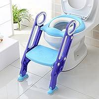 BAMNY Asiento para WC con Escalón para Bebé Aseo Escalera del tocador de niños con escalón plegable Orinal Formación Rosa
