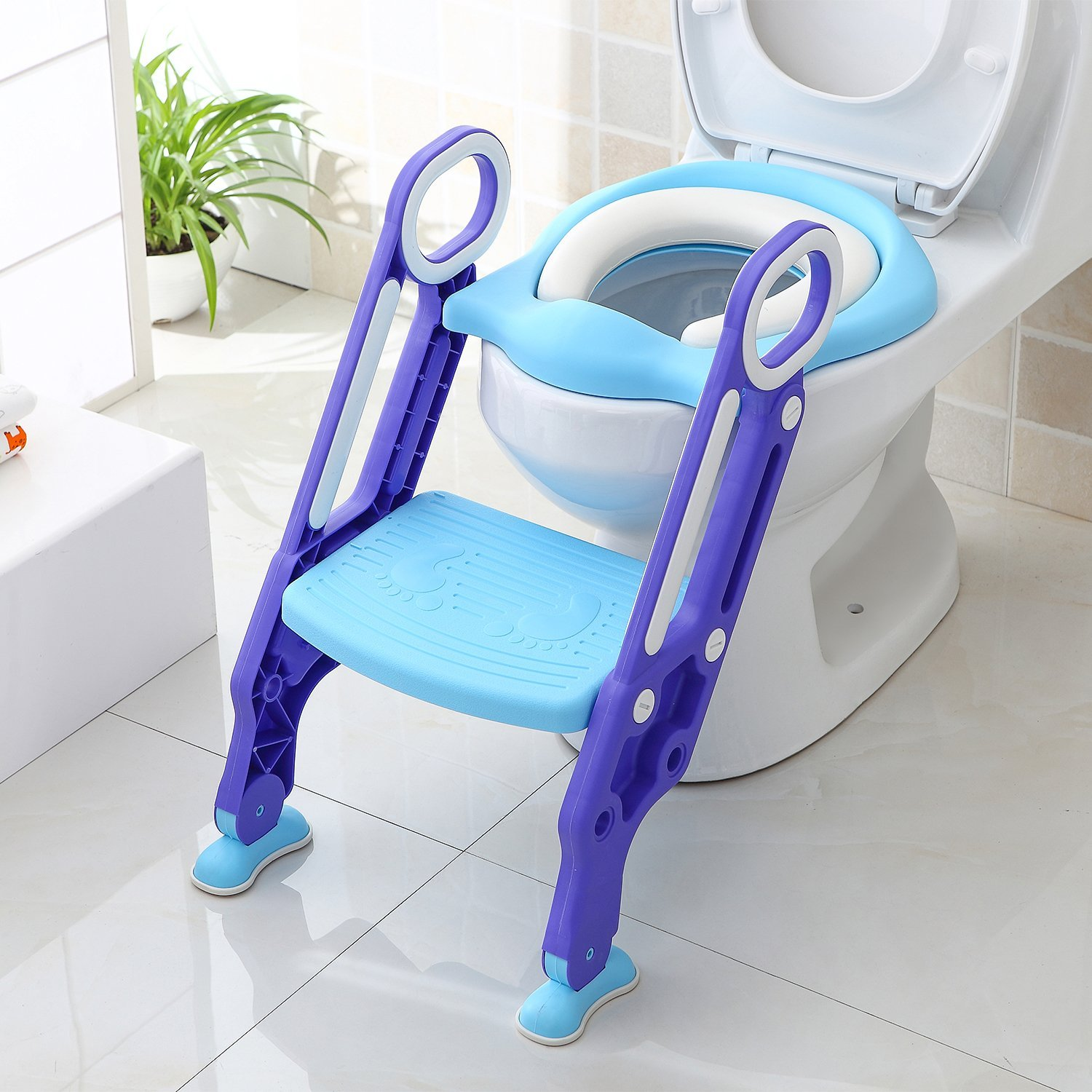 BAMNY Potty Toilet Seat Adjustable Baby Toddler Kid Toilet Trainer with Step Stool Ladder for Boy and Girl,by Bamny BMY