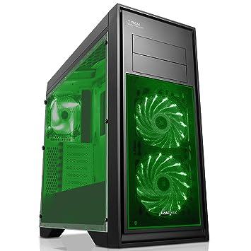Game Max Titan Caja de Gaming para Ordenador de Mesa Negro Green ...