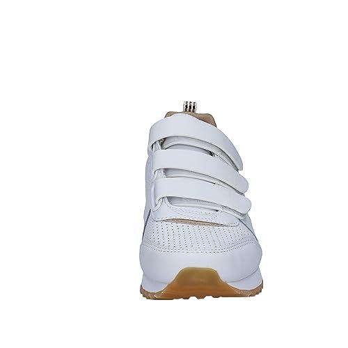 SKECHERS Zapatillas de Deporte Mujer Cuero Blanco 36 EU: Amazon.es: Zapatos y complementos