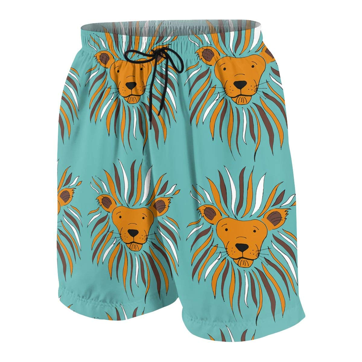 HFSST Blue Lion Cute Cool Teen Swim Trunks Bathing Suit Shorts Board Beach