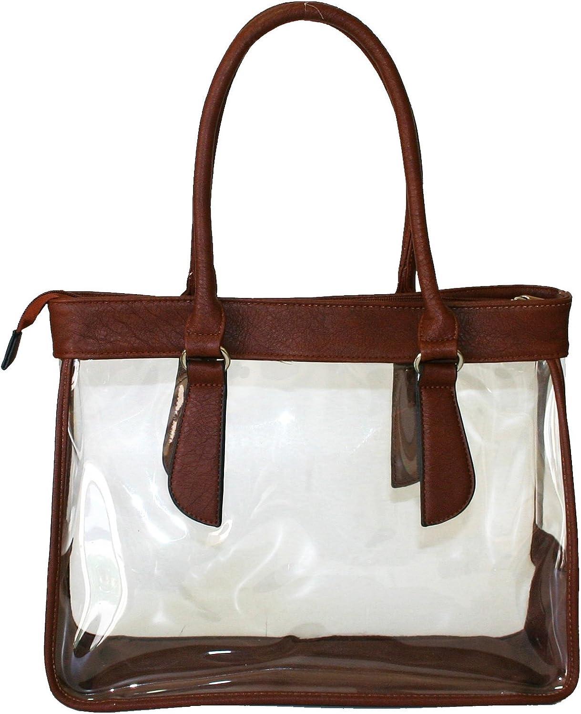 Women Clear See Through Transparent Purse Handbag Satchel Beach Bag