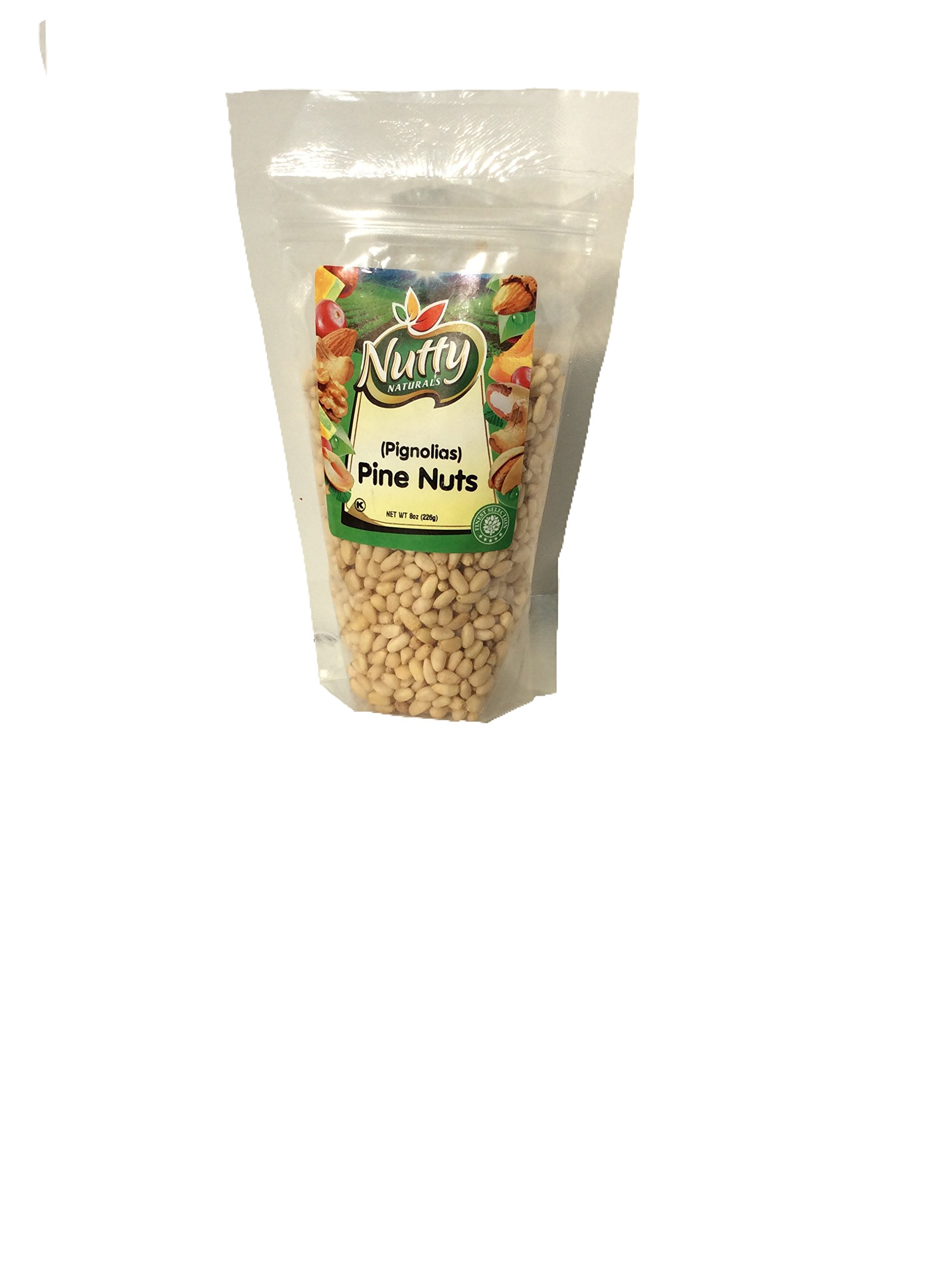 Pine Nuts (Pignolias) Net Wt 8oz, add them to cookies and baked goods for a nutty crunch