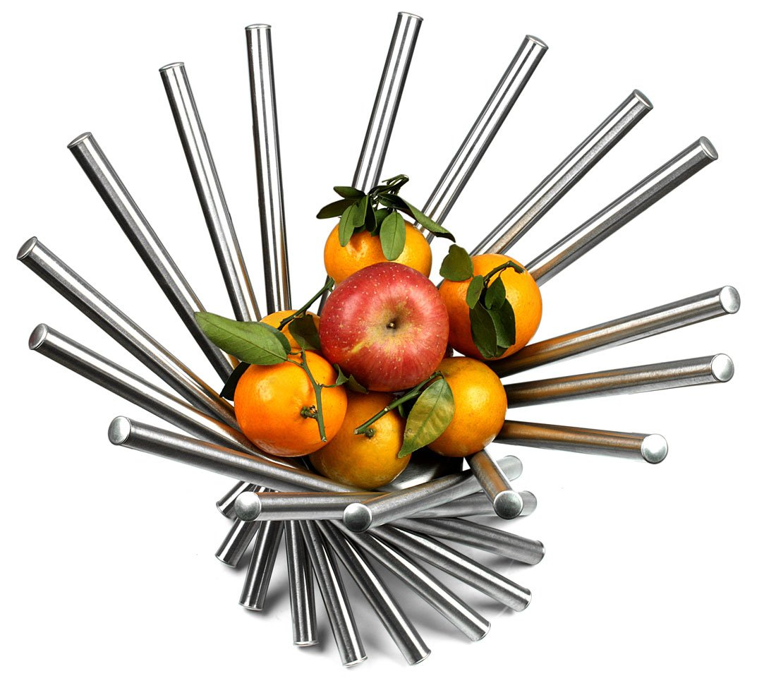 Amazon.com: Visol Products Heliot Stainless Steel Modern Fruit ...