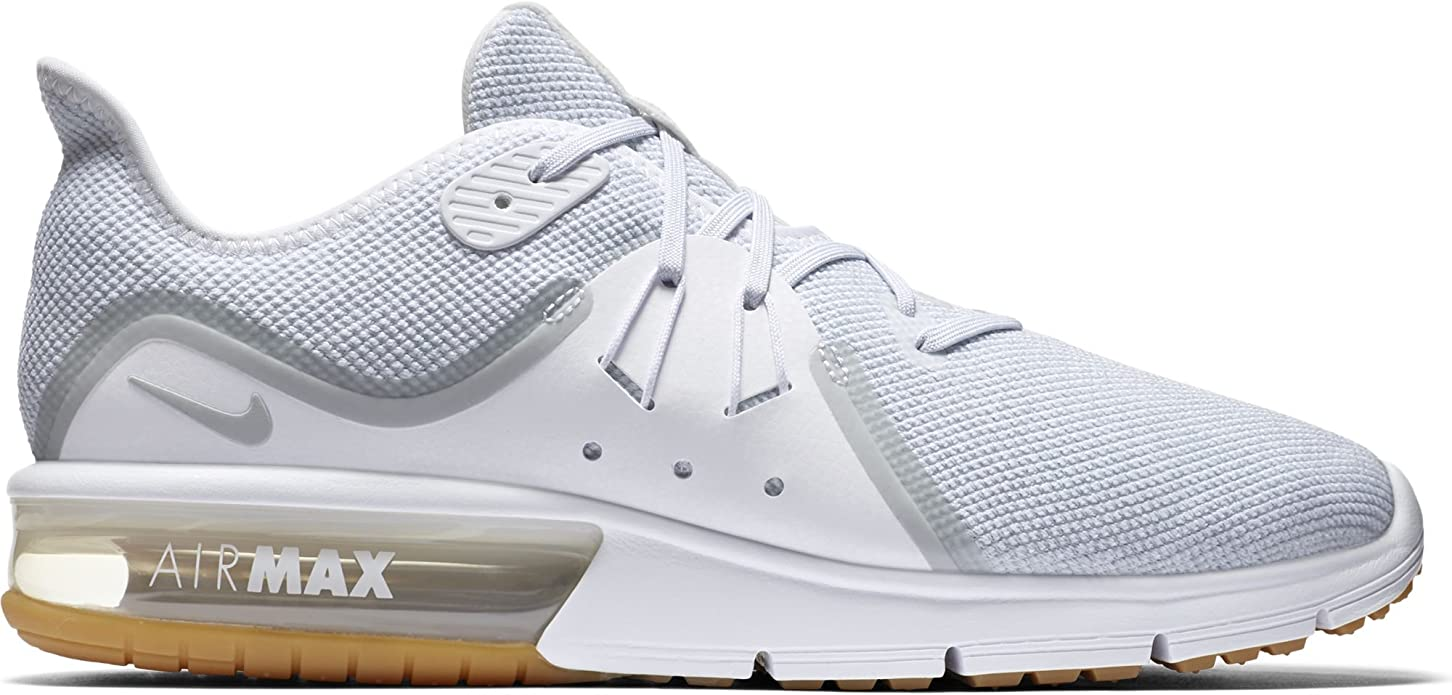 Nike Men's Air Max Sequent 3 Running Shoe WhitePure