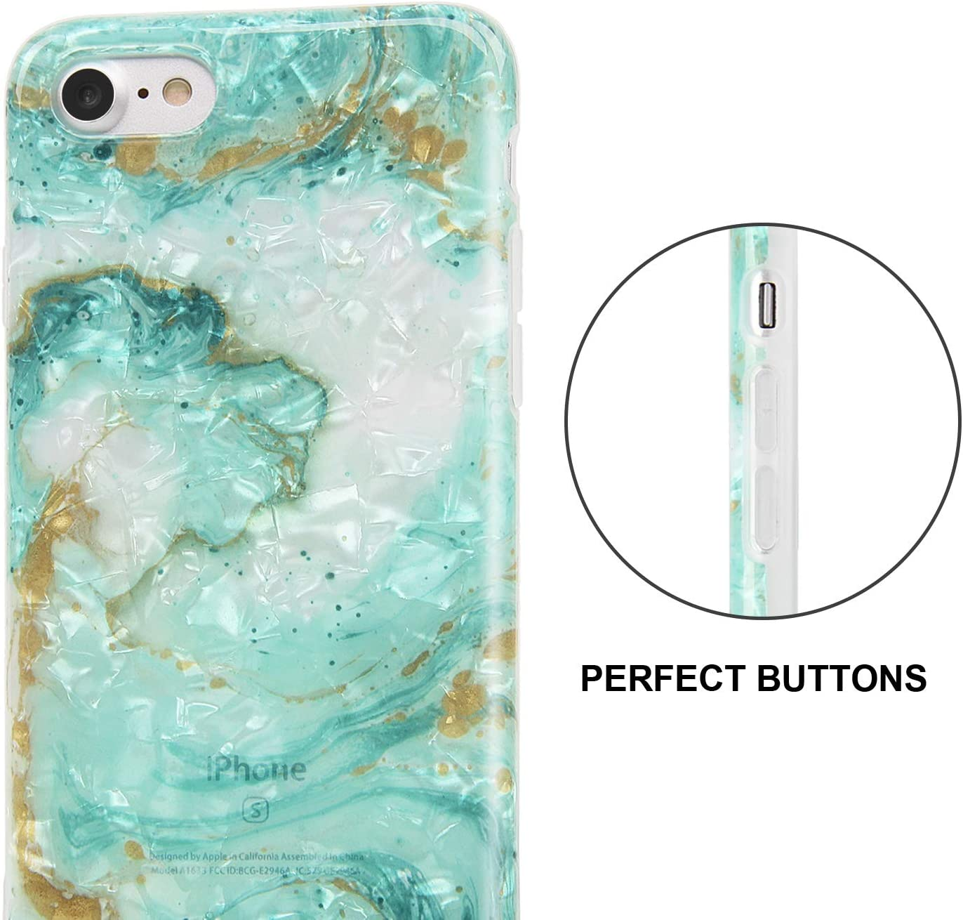 Case For Iphone 7 8 Marble Dream Green Elektronik