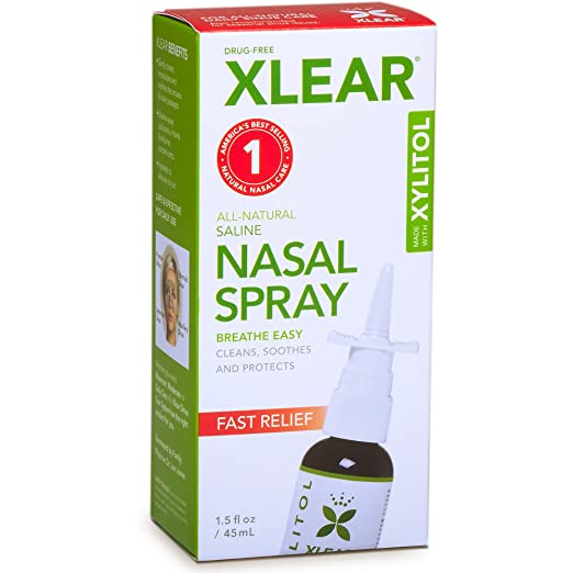 The Xlear nasal spray travel product recommended by Denisa on Lifney.