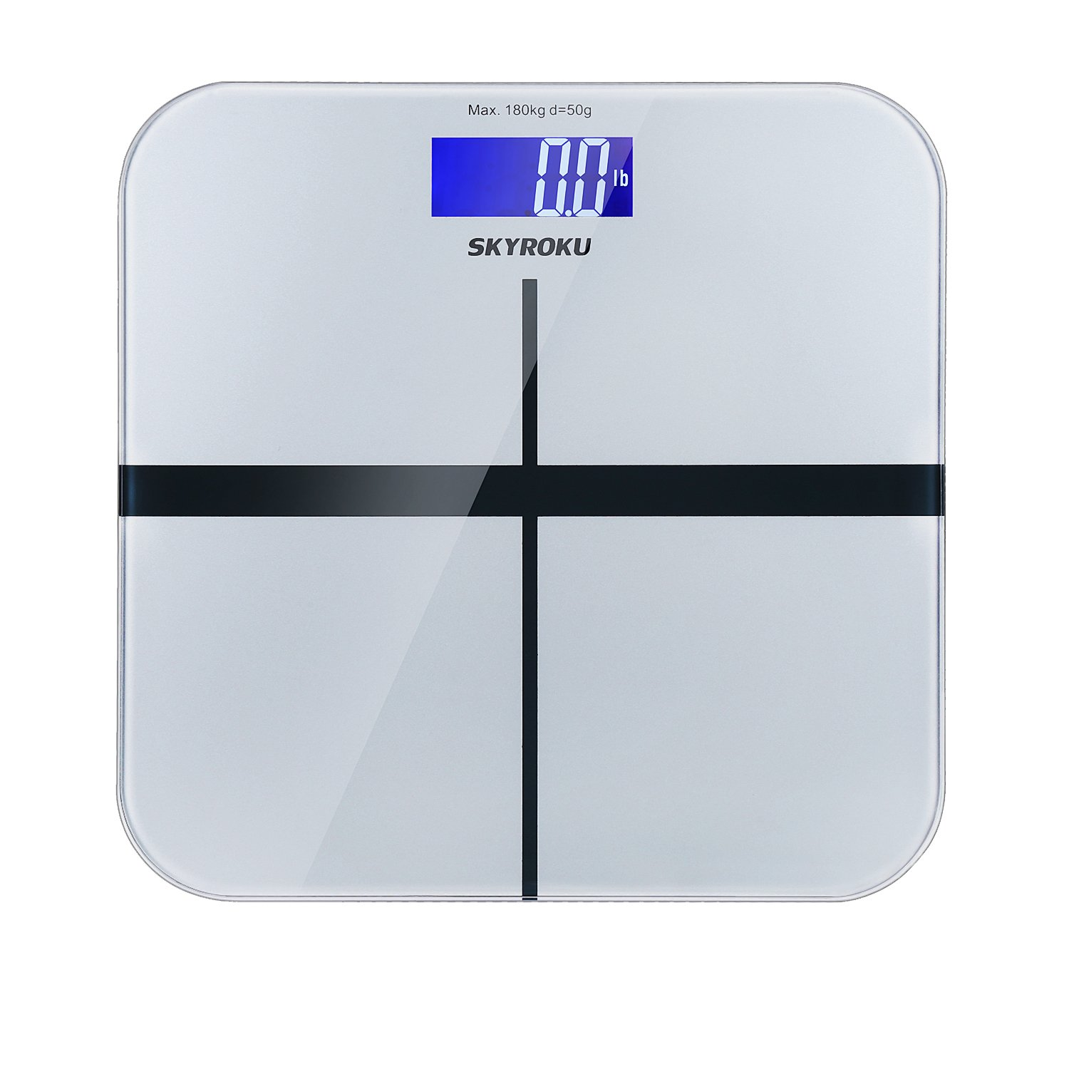 Amazon scale bathroom - Amazon Com Skyroku Digital Body Weight Scale Bathroom Scale With Extra Large Lcd Display And Step On Technology 400 Pounds Health Personal Care