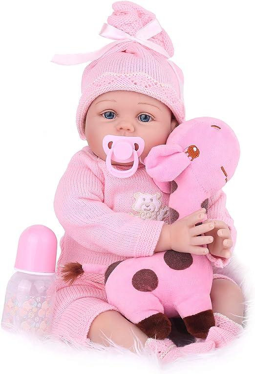 CHAREX Reborn Baby Girl Doll (Pink), 22