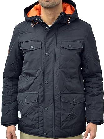 Mens Designer Bellfield Padded Warm Winter Black Flero Nylon ...