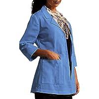 ViVy Shawl Collar Three Forth Sleeve Lab Coat for Women