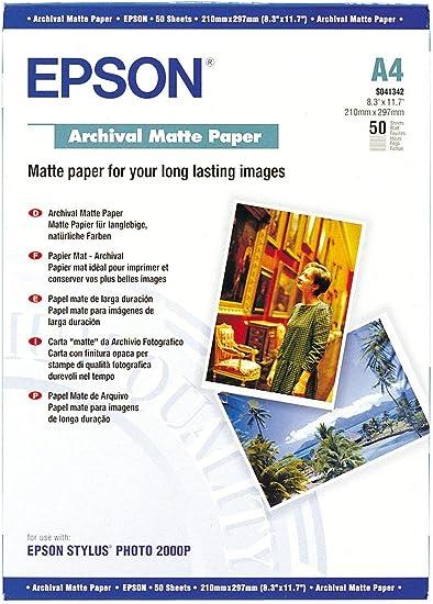 Epson Archival Matte Photo Paper, A4, 192 gsm, 50: Amazon.co.uk: Electronics