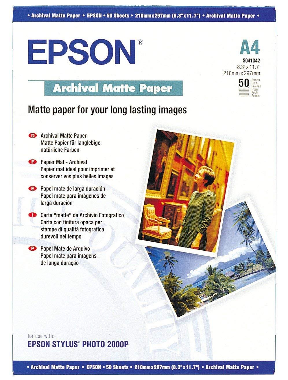 Epson Archival Matte Paper, DIN A4, 192 g/m², 50 hojas - Papel ...