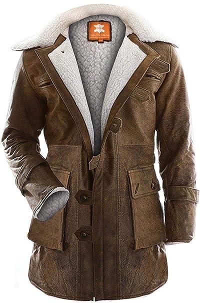 Amazon.com: Chaqueta de Bane Coat, Sherpa, piel de Snuff ...