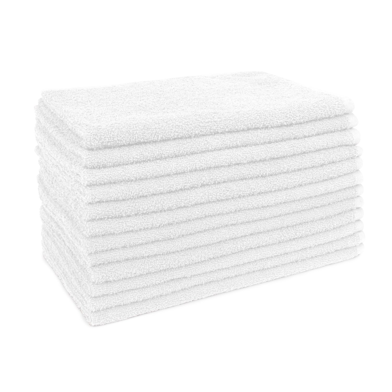 16'' x 29'' U29 White Bleach Safe Salon Towels - 12 Pack