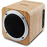 LEFON Wood Bluetooth Stereo Speaker Support FM Radio, Bluetooth 4.0, AUX, TF Card MP3 Player, Portable Wireless Speaker Built-in 1800mAh Rechargable Battery for 10-Hours Playtime, Suitable for Smartphones, Tablets, Laptops, PC and All Bluetooth Devices.(White Oak)