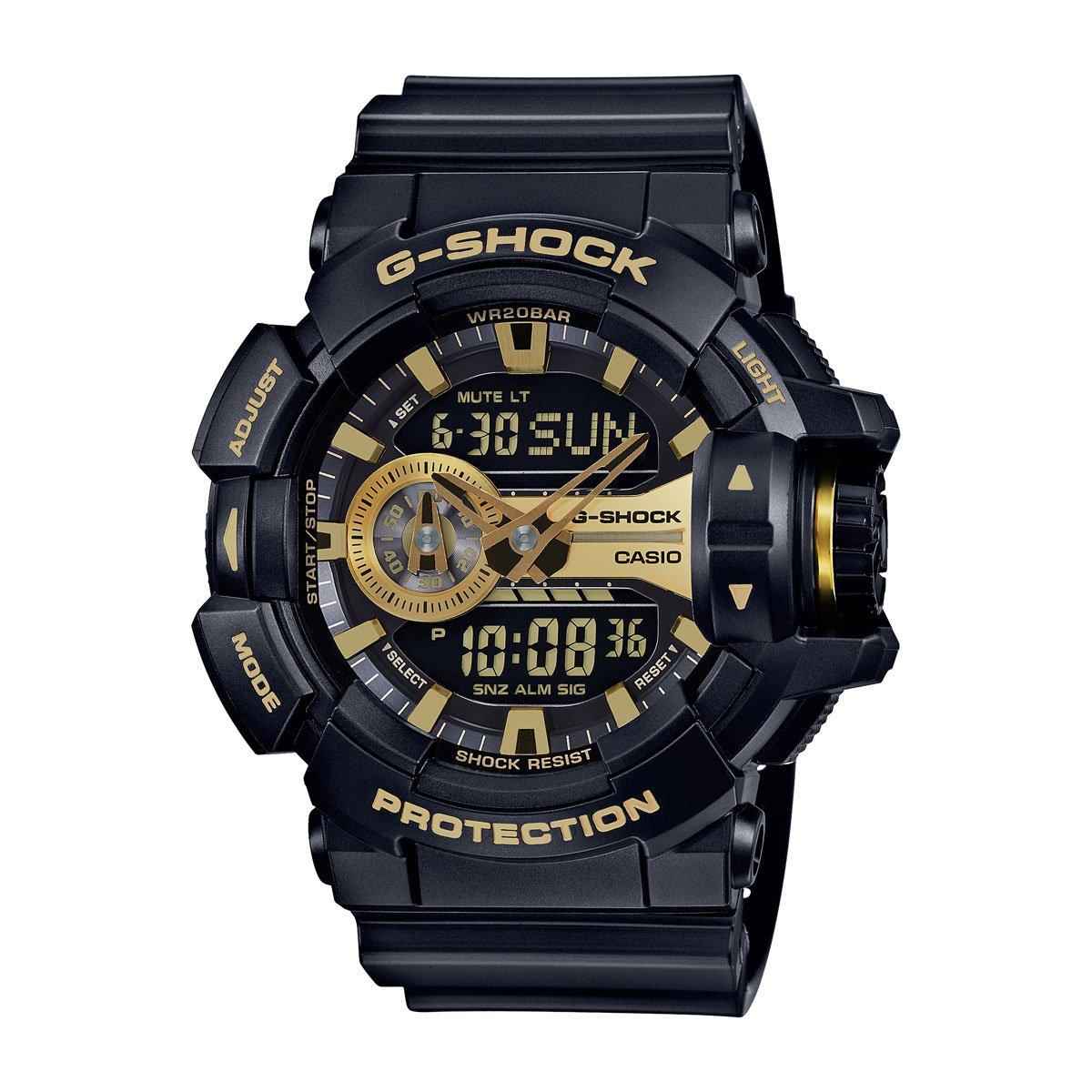 854308c6e1ba Amazon.com  Casio G-Shock GA-400GB Garish Series Watches - Black Gold   One  Size  Watches