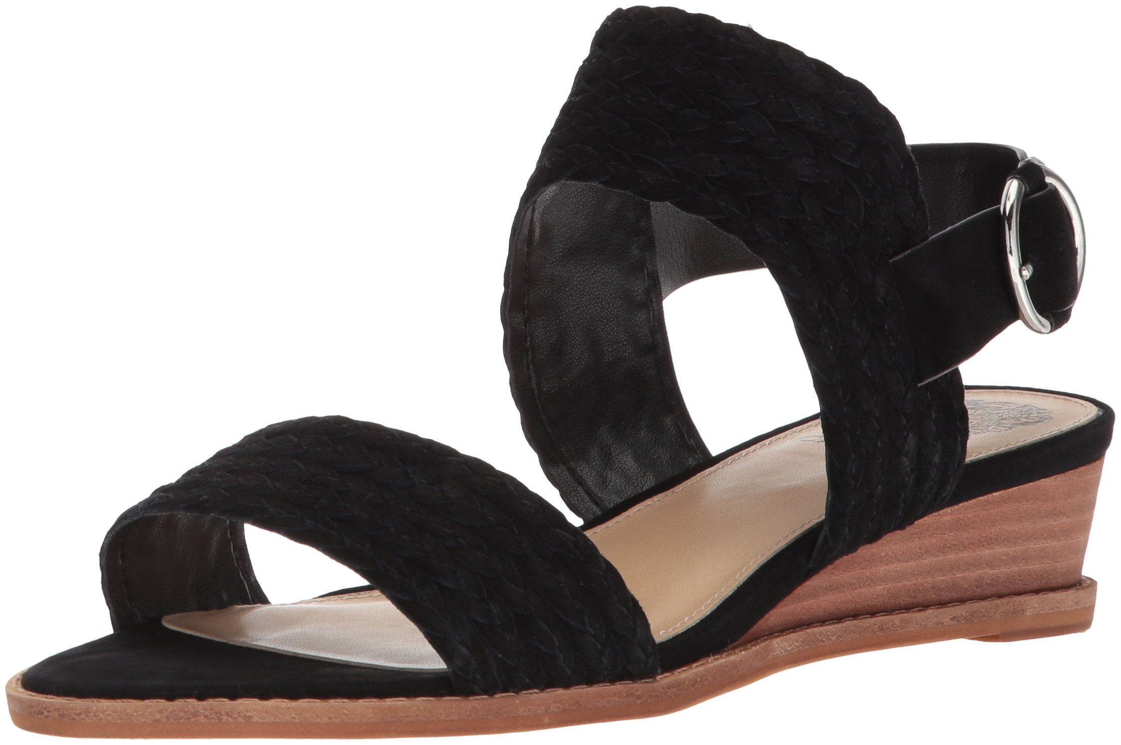 Vince Camuto Women's Raner Sandal, Black, 7.5 Medium US by Vince Camuto