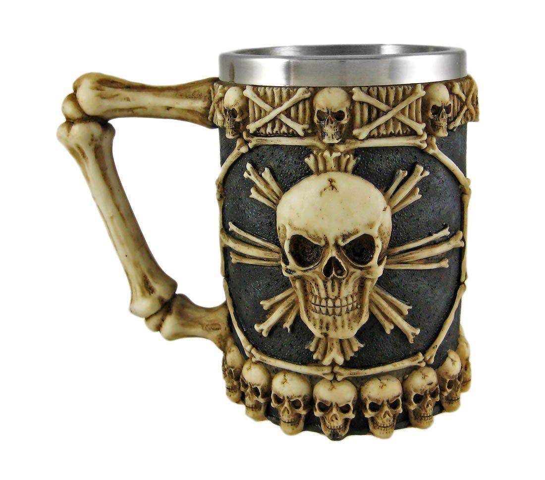 Human Skeleton Skull Halloween Kitchen Mug Cup with Bone Handle YTC Summit International SK-40