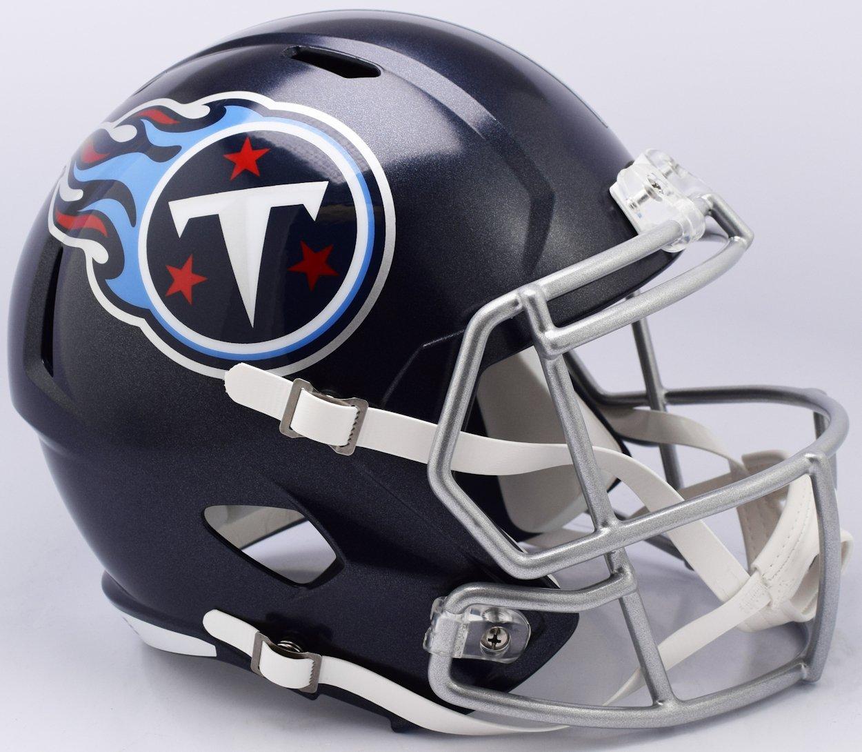 Tennessee Titans 2018 Logo Riddell Speed Mini Football Helmet New in Riddell Box