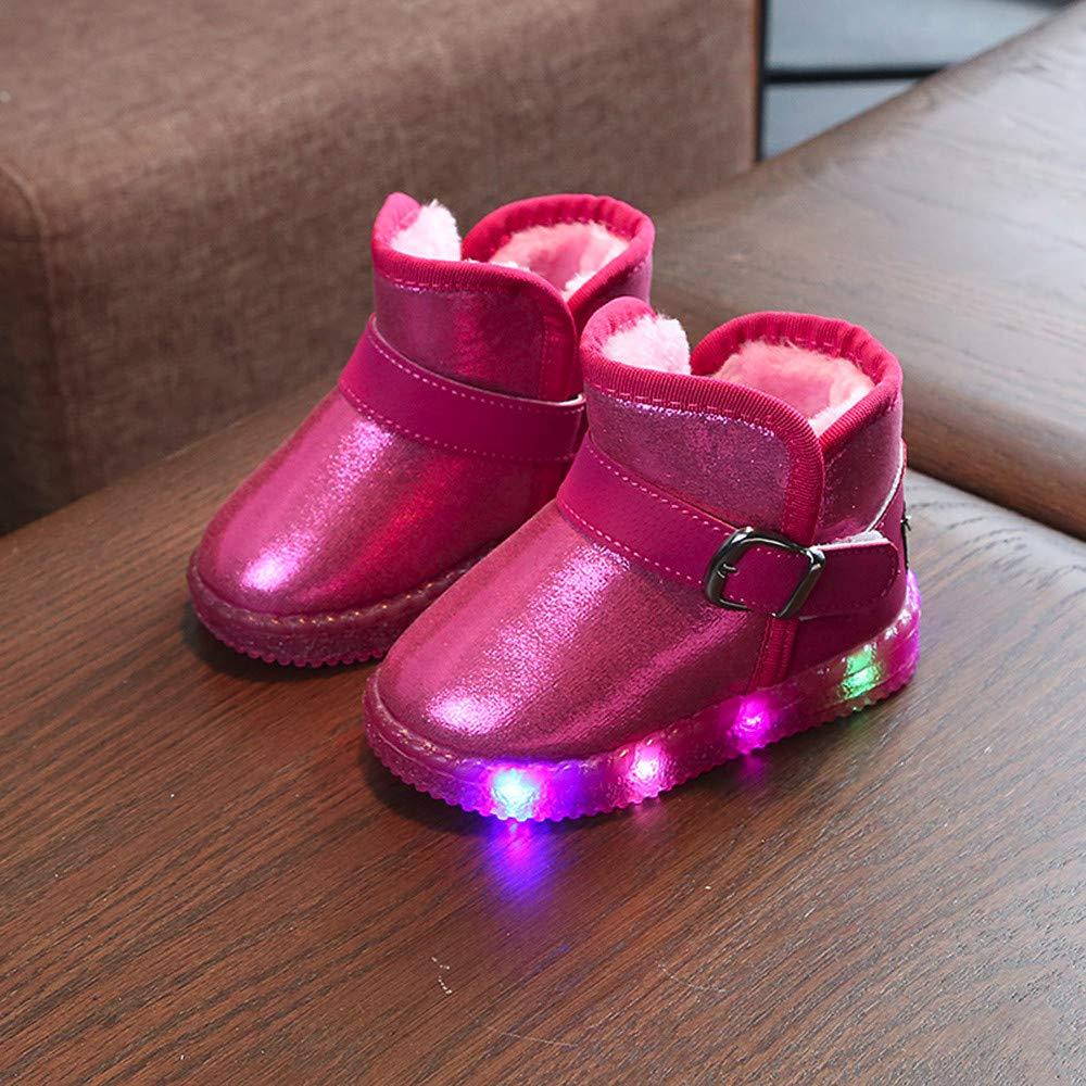 HEETEY Junge M/ädchen Schuhe Mode l/ässig Winter warm Baby M/ädchen Schuhe Brief Baumwolle Babyschuhe Kinder Kleinkind Schuhe Schn/ür-Babyschuhe