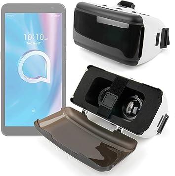 DURAGADGET Gafas de Realidad Virtual VR Ajustables en Color Negro ...