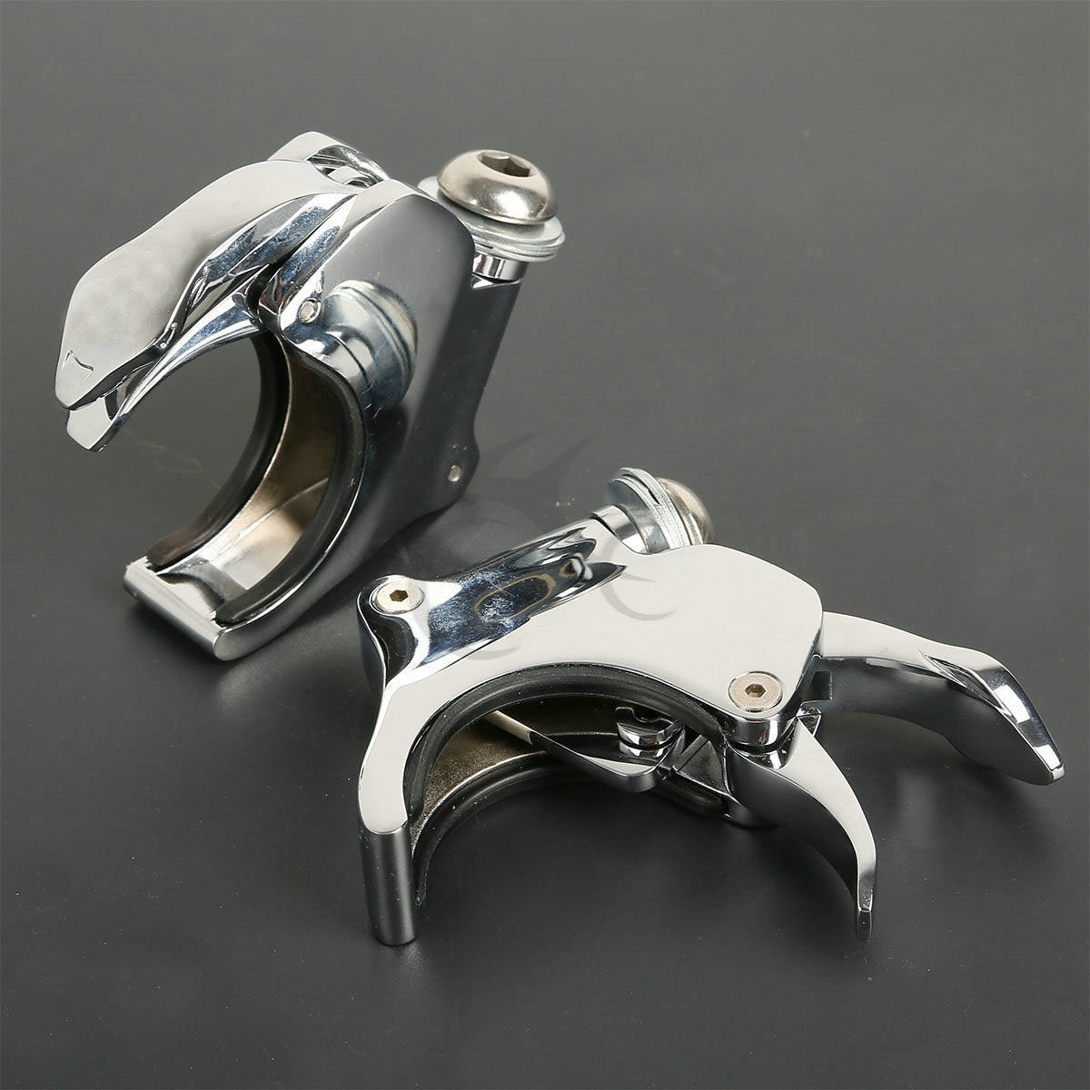 XFMT 49mm Detachable Windshield Clamp Compatible with Harley Wide Glide FXDWG Compatible withty Eight XL1200X