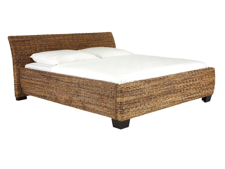 massivum Doppel-Bett Barika 180x200 cm Liegefläche aus Bananenblatt ...