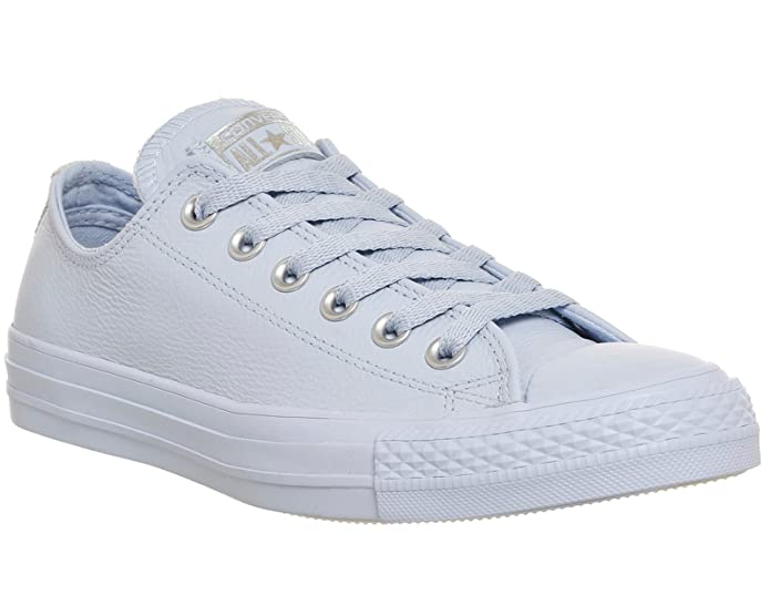 Converse Chucks Chuck Taylor All Star Low Top Sneaker Damen Herren Unisex Silber Blau (Porpoise Pure Silver Snake Exclusive)